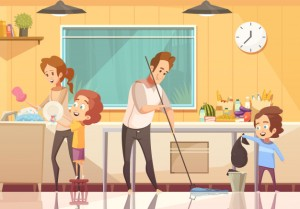 kids-helping-cleaning-cartoon-poster_1284-20636