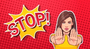 woman-gesturing-no-stop-sign-pop-art-style-banner-dot-background_48369-13861